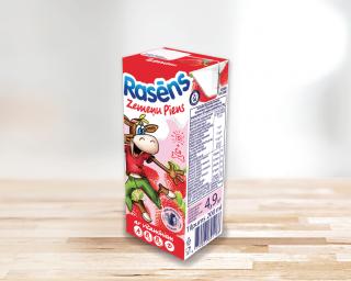 """Braškių skonio pieno gėrimas """"Rasēns"""""""